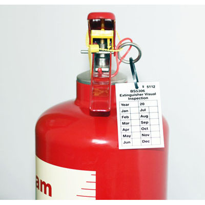 Visual inspection tag for fire extinguishers pack of 10 - 58108