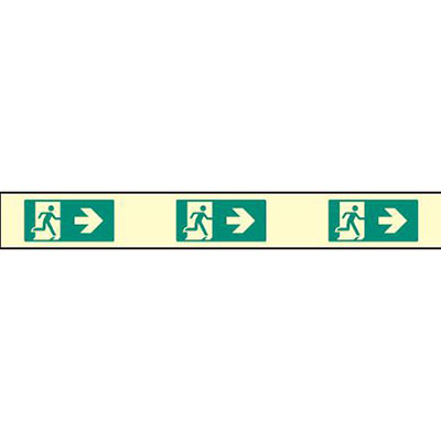 Fire exit safety sign strip