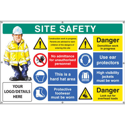 Construction Site Banner - 55128