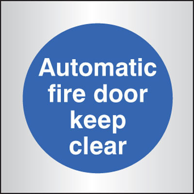 Deluxe Automatic Fire Door Keep Clear Signs 59099