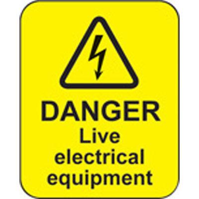 Mining equipment safety decals