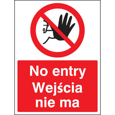 Multi-Lingual Safety Signs