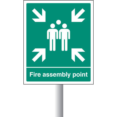 buy fire assemby point signs proshield. Black Bedroom Furniture Sets. Home Design Ideas