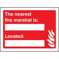 Fire Warden & Fire Marshal Signs