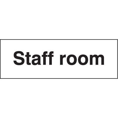Staff Room Sign 7081