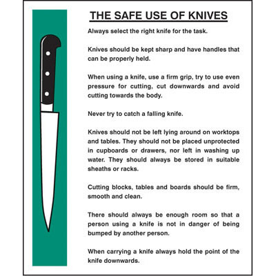 Kitchen knife safety rules pictures to pin on pinterest for Y kitchen rules 2018