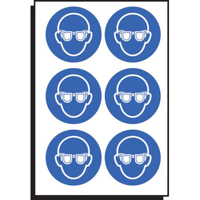 eye protection safety labels