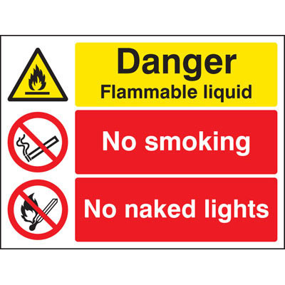 Flammable Substances Safety Signs