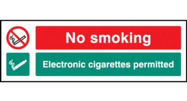 New range of e-cigarette safety signs