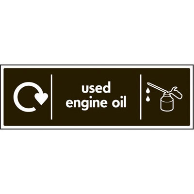 Used Engine Oil Recycling Signs 6652 Proshield Safety Signs