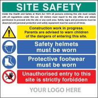 Low cost construction site signs