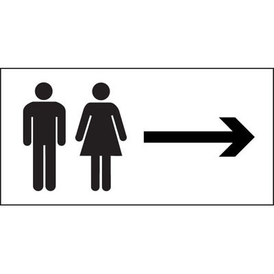Male and female toilets. toilet signs Archives   Proshield Safety Signs