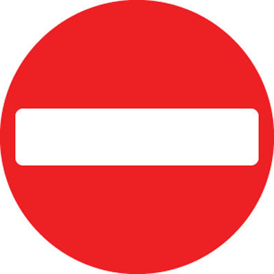 no entry r2 ce marked road signs 57715 proshield