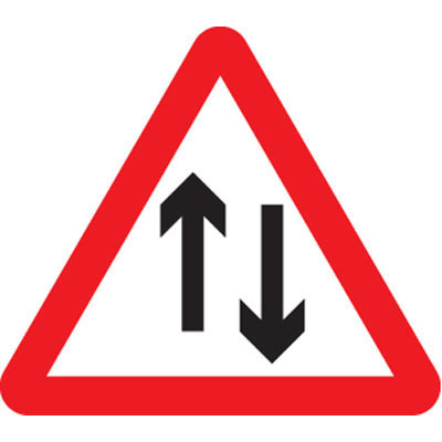 Two way traffic class R2 CE Marked traffic signs - 57758 ...