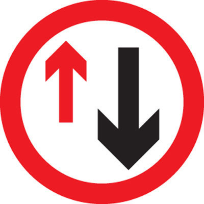UK road signs Give way