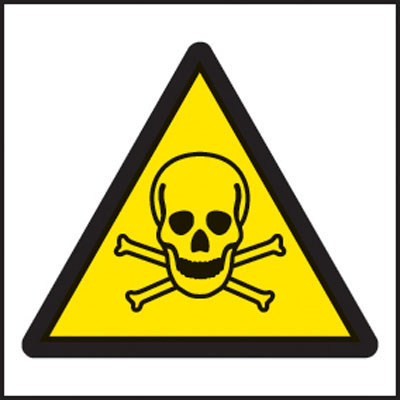 Poison symbol warning signs
