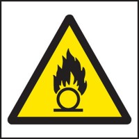 Oxidising agent warning signs