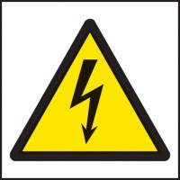 Electricity symbol warning signs