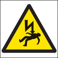 Electrical warning signs symbol