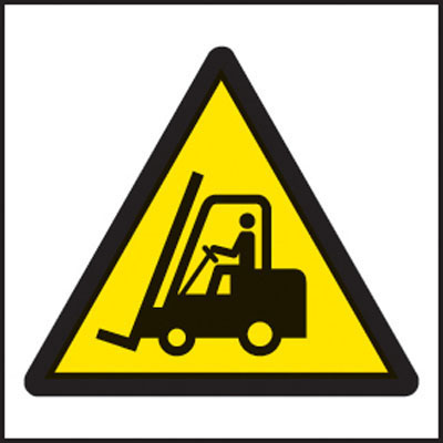 Forklift symbol warning signs
