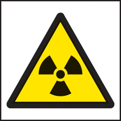 Radiation symbol warning signs