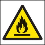 Flammable symbol warning signs