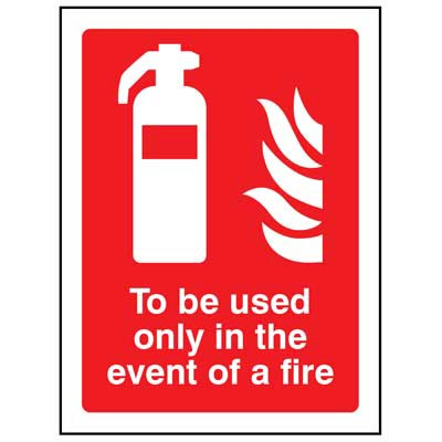 To be used only in the evento of a fire - 1074