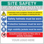 Low cost multi-message site safety board - 55794