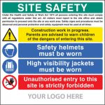 Low cost construction site safety board - 55796