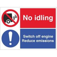 No Idling Switch Off Engine - 5473