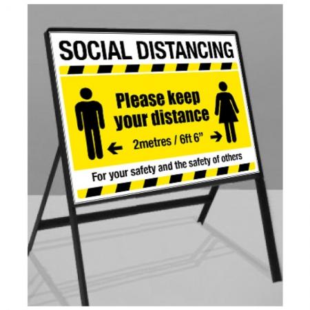 Coronavirus Floor Standing Signs